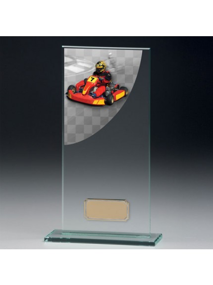 Go-Kart Colour-Curve Jade Crystal Award