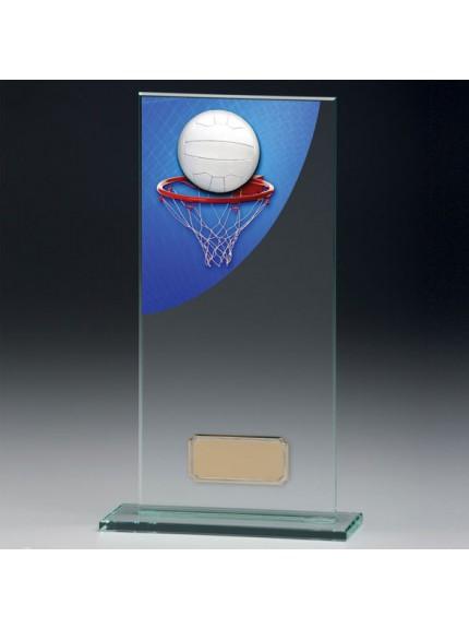 Netball Colour-Curve Jade Crystal Award