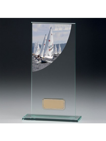 Sailing Colour-Curve Jade Crystal Award