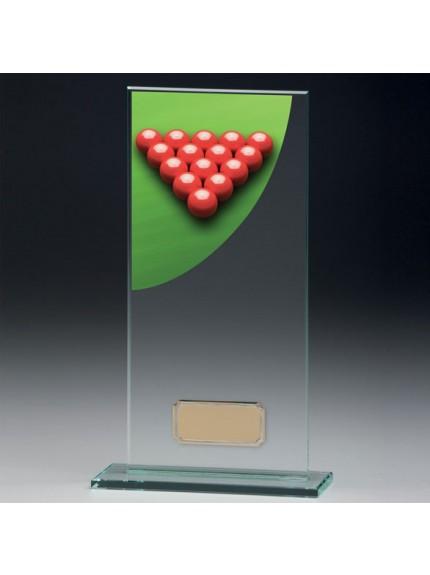 Snooker Colour-Curve Jade Crystal Award
