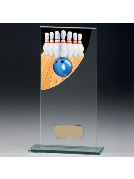 Ten Pin Colour-Curve Jade Crystal Award