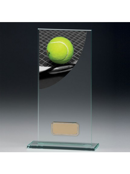 Tennis Colour-Curve Jade Crystal Award
