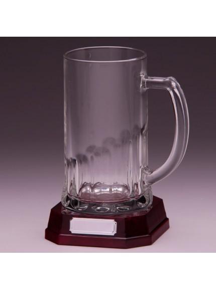 Lindisfarne St Cuthbert Glass Tankard 195mm