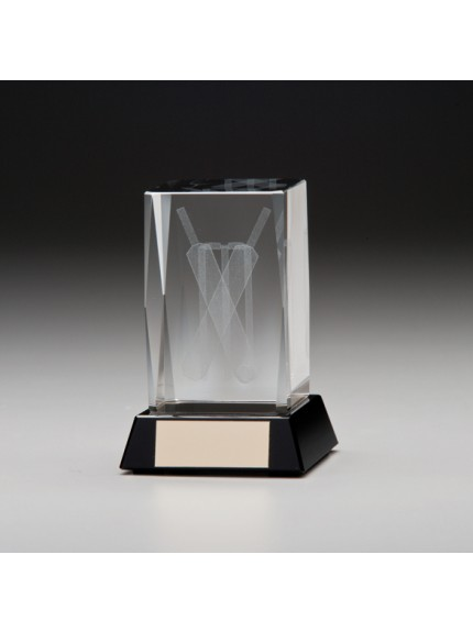 Conquest 3D Cricket Crystal Award