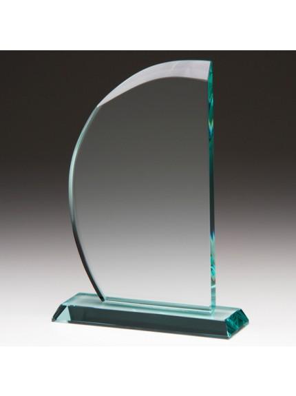 Jade Impulse Wave Crystal Award