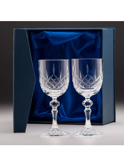 Lindisfarne Suna 2 x Crystal Wine In Box 250mm