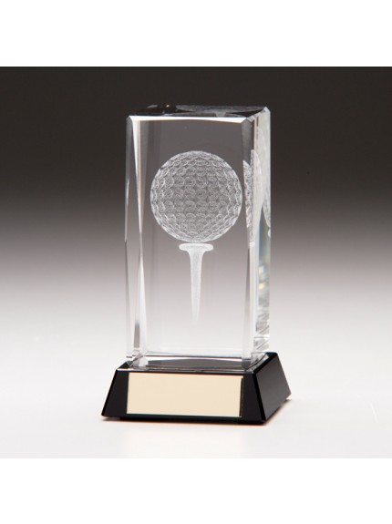 Lanark Crystal Golf Block