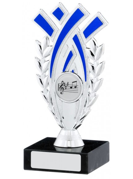 Silver And Blue Trophy