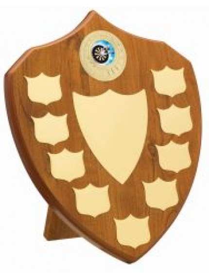 25.5cm Maple 9 Year Budget Presentation Shield