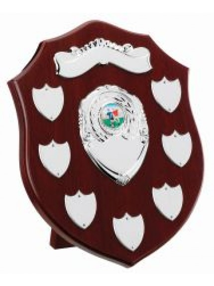 Mahogany Presentation Shield (7-9 Years)