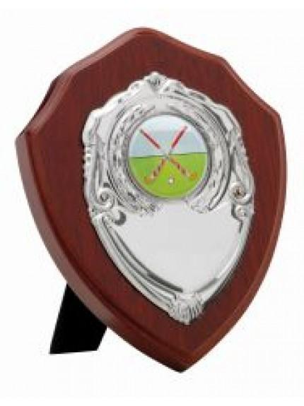 Mahogany Finish Presentation Shield