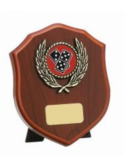 Mahogany Finish Shield