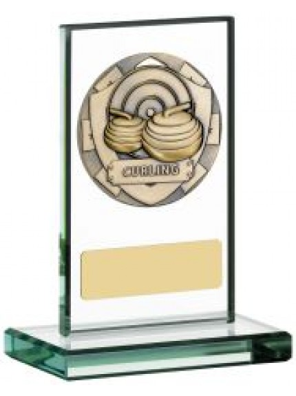 Curling Glass Plaque