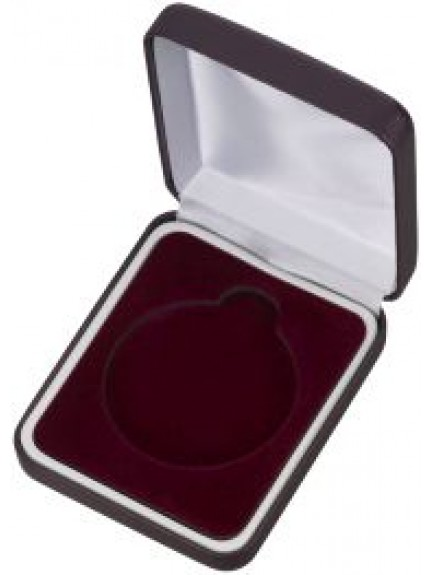 60mm Maroon Padded Medal Box