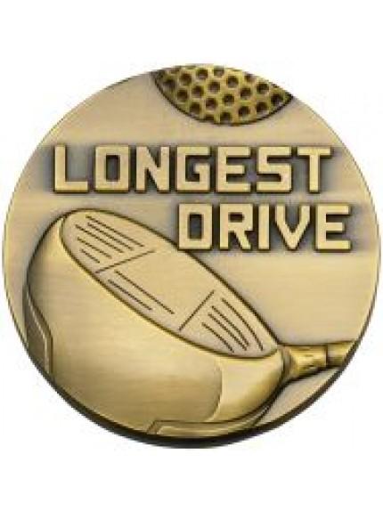 60mm Longest Drive Medal