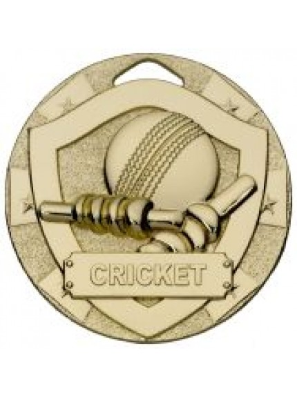 50mm Cricket Mini Shield Medal