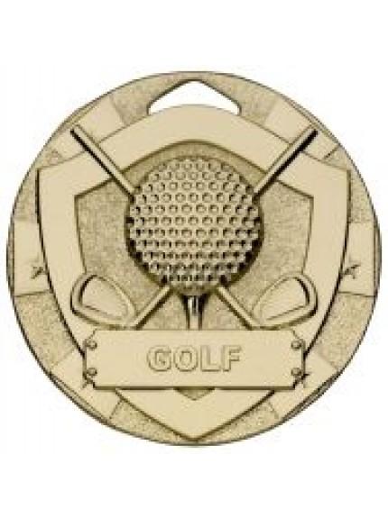50mm Golf Mini Shield Medal