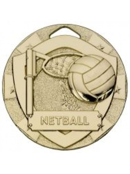 50mm Netball Mini Shield Medal