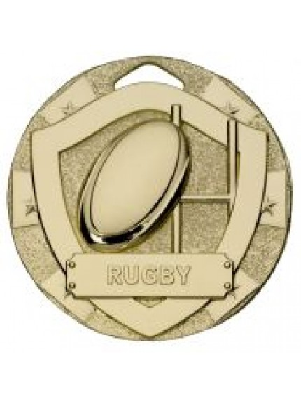 50mm Rugby Mini Shield Medal