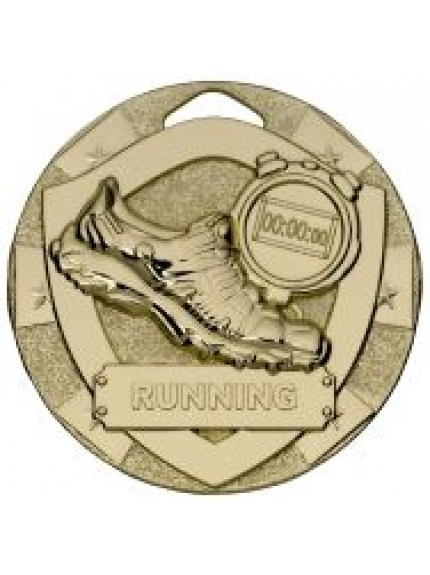 50mm Running Mini Shield Medal