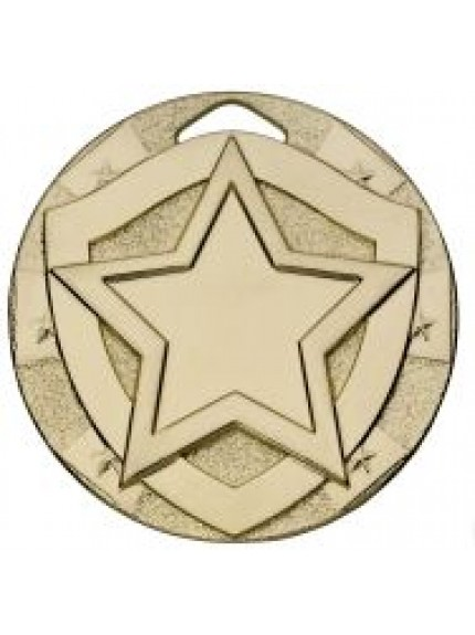 50mm Star Mini Shield Medal