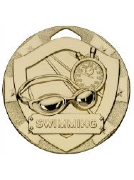 50mm Swimming Mini Shield Medal