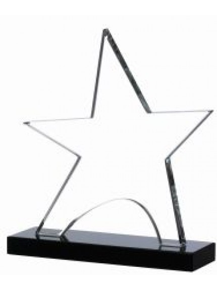 Clear Star On Black Base Award