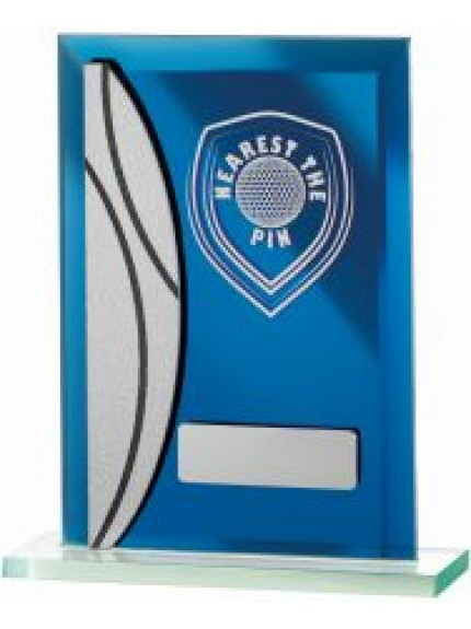 15cm Golf Nearest The Pin Blue Mirrored Award