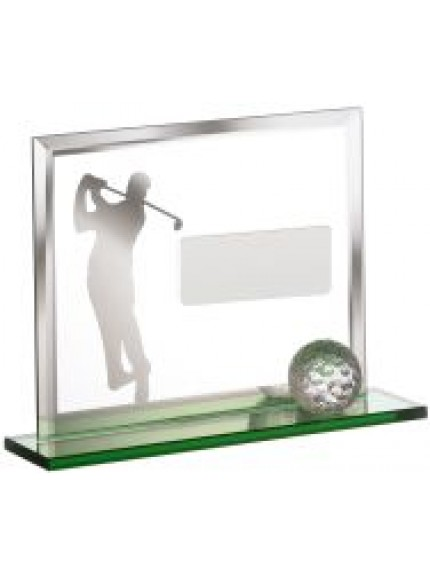 Golf Player On Green Base With Ball Award