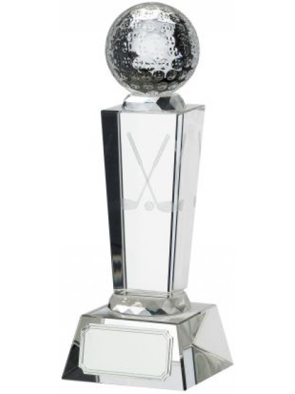 Golf Glass Award With Ball