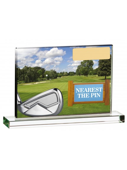 Golf Scene Nearest The Pin - 15cm x 10cm