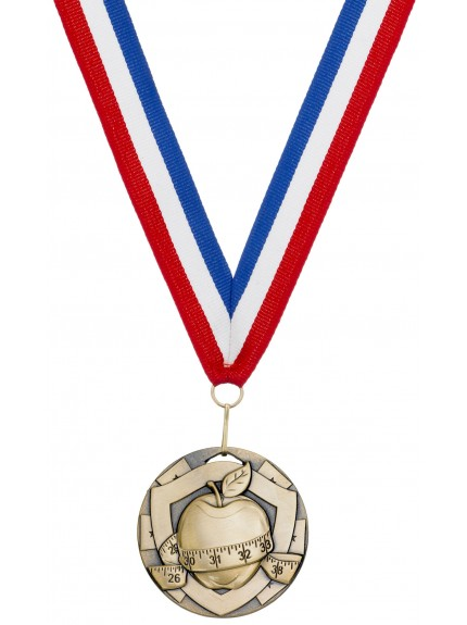 Slimming Medal On Ribbon - 50mm