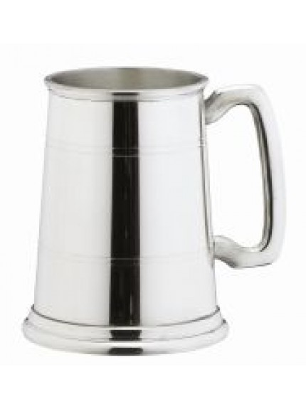 1 Pint Classic Lined Pewter Tankard