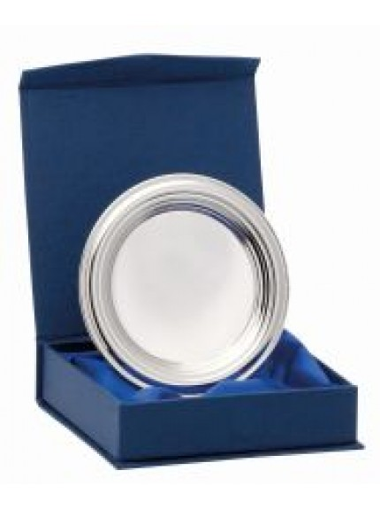 Nickel Plated Ridged Tray With Box