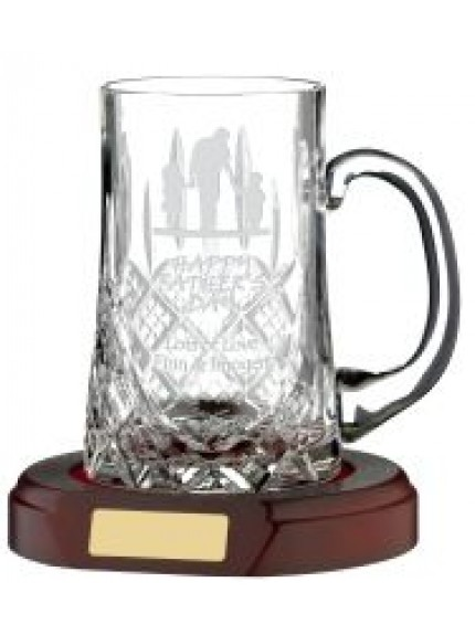 Three Quarter Cut 1 Pint Crystal Tankard
