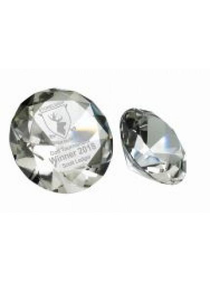 Glass Diamond Paperweight