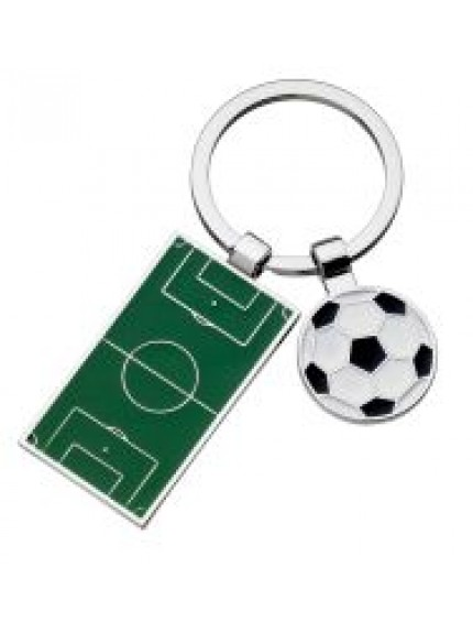 Football Pitch And Ball Keyrings