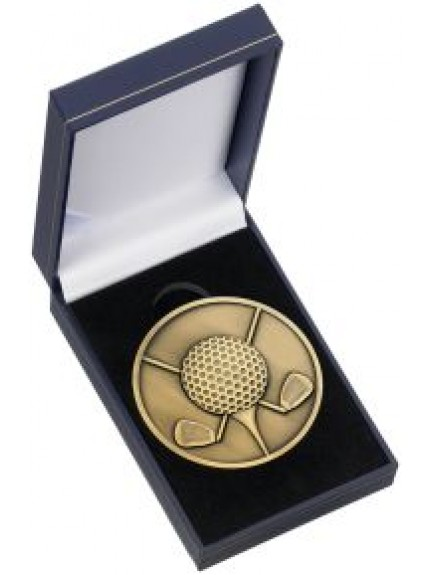 Clubs With Ball Medal & Box