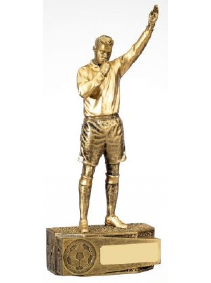 18cm Football Male Referee Trophy