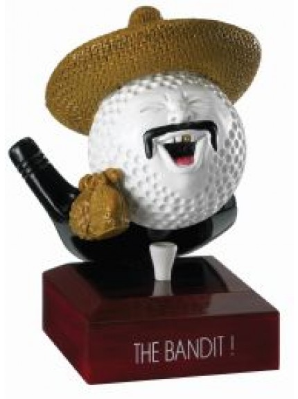 12.5cm Golf The Bandit Award