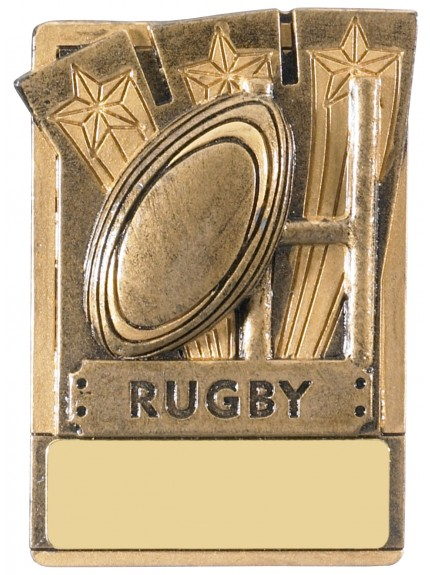 Mini Magnetic Rugby Award - 82mm