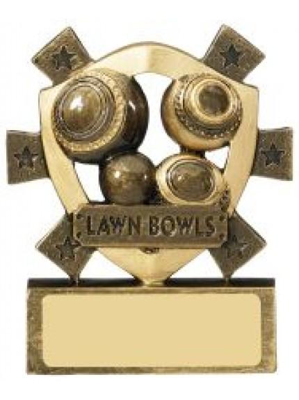 11cm Lawn Bowls Award