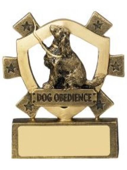 8cm Dog Obedience Mini Shield