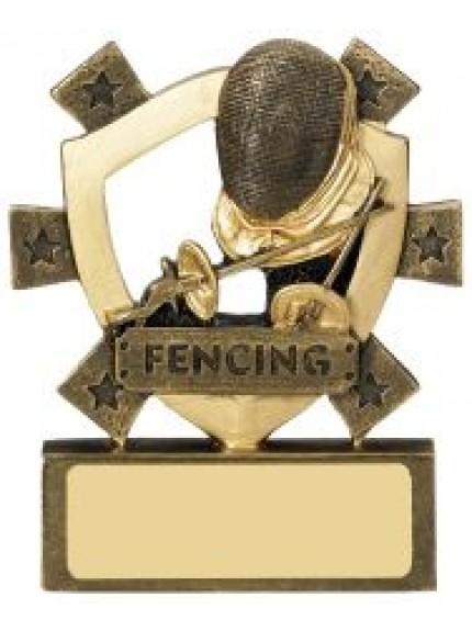 8cm Fencing Mini Shield