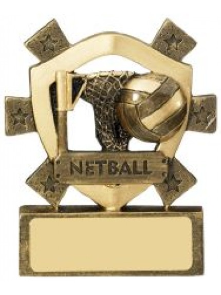 8cm Netball Mini Shield