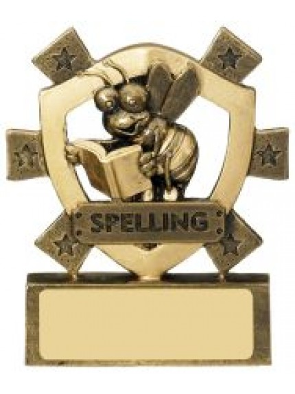 8cm Spelling Mini Shield
