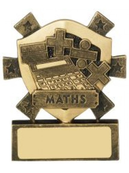 8cm Maths Mini Shield
