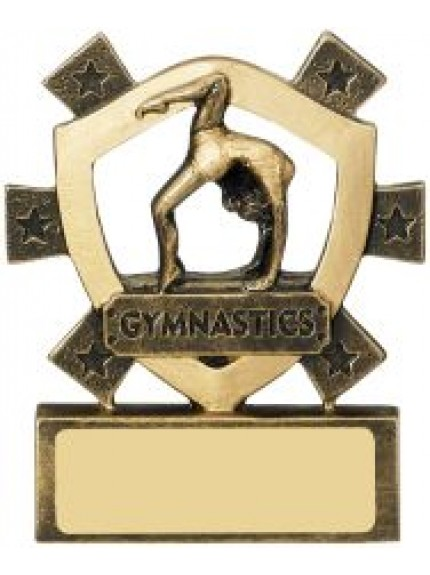 8cm Female Gymnastics Mini Shield