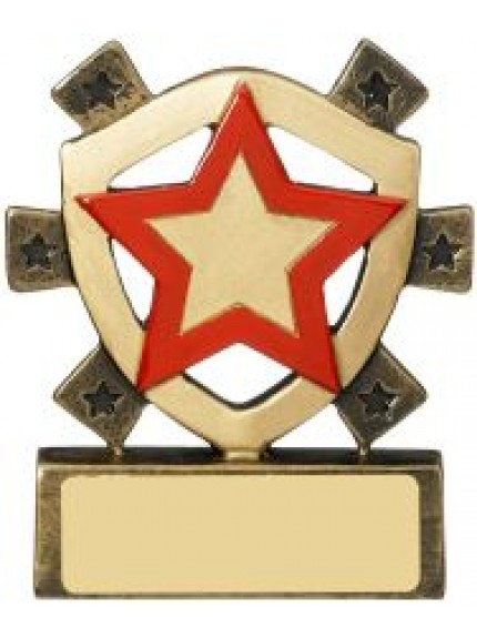 8cm Red Star Mini Shield