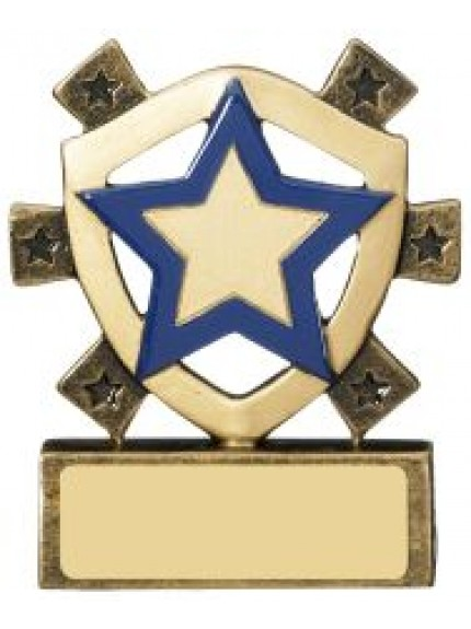 8cm Blue Star Mini Shield